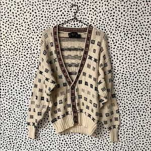 Vintage Chunky Knit Cardigan